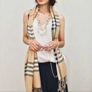 Brand new plaid scarf shawl